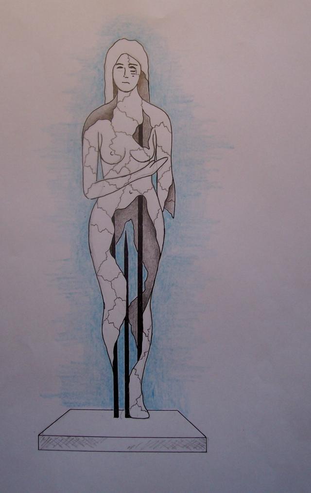 Skulpturidé våldtagen
